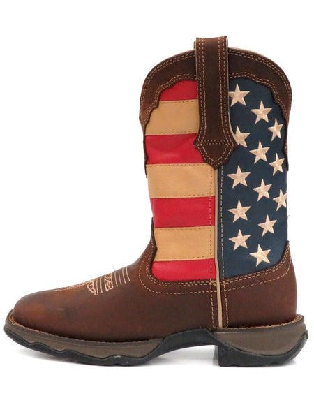 Women's Durango Patriotic Pull-On Flag Boots RD4414 Side View