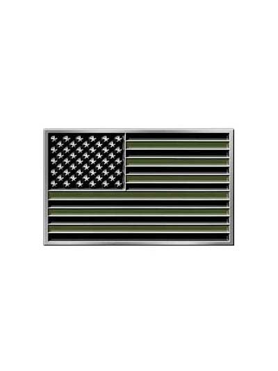 American Flag Subdued Patriotic Belt Buckle B0178