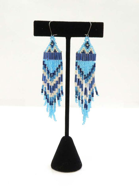 Native American Sioux Handmade Beaded Earrings Set JCE403 Turquoise