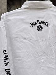 Ely Cattleman Jack Daniel's Long Sleeve White Western Shirt 15225006JD-01 back