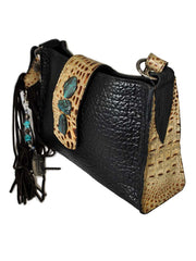 Eternal Perspective Bison Embossed Croc Leather Legacy Handbag