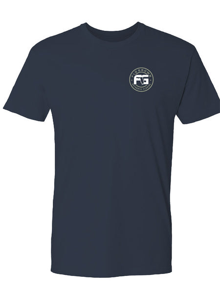 FloGrown FGM-1296 Mens Short Sleeve Local Gators Tee Navy Front