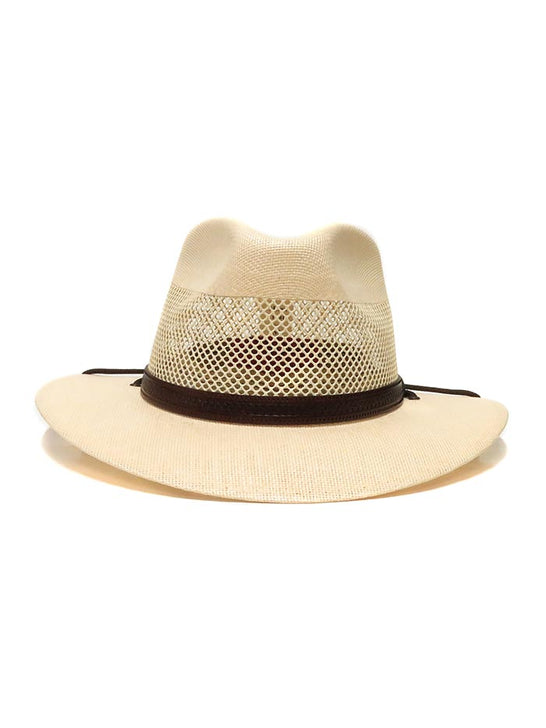 American Hat Makers Milan Straw Hat 4-LN MILAN Cream Front View
