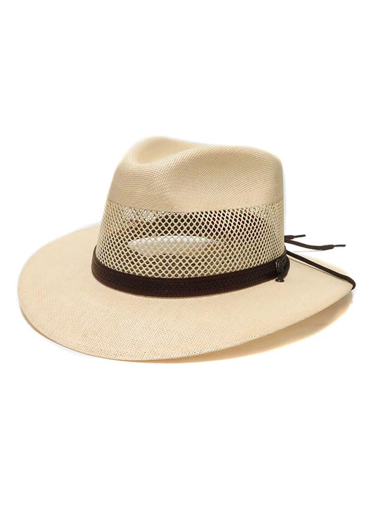 American Hat Makers Milan Straw Hat 4-LN MILAN Cream Side View