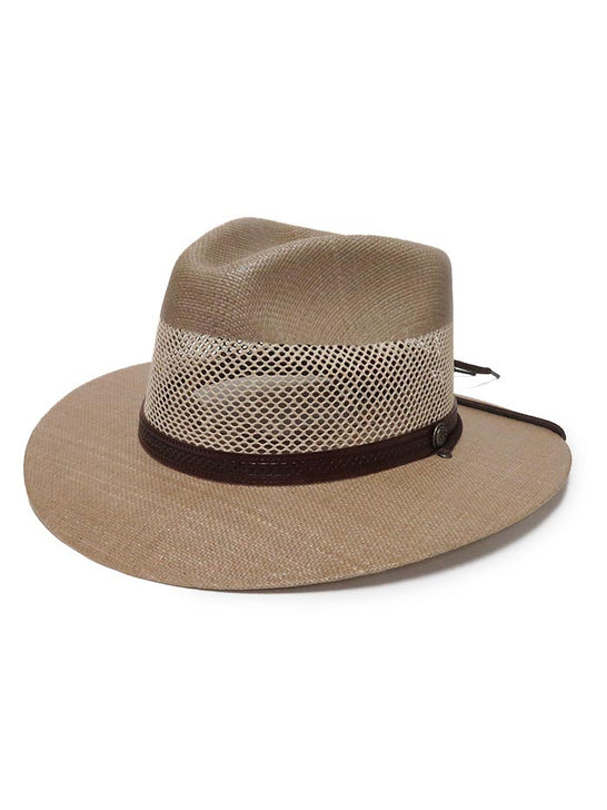 American Hat Makers Milan Tan Straw Hat 4-LN MILAN Side View