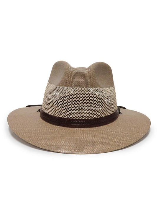 American Hat Makers Milan Tan Straw Hat 4-LN MILAN Front