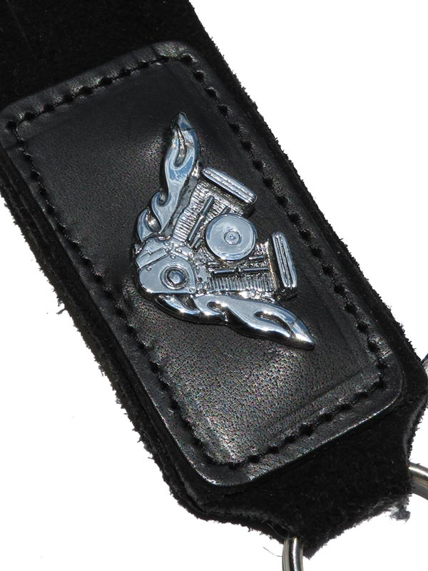 V Twin 11 Inches Black Fringe Key Fob F283