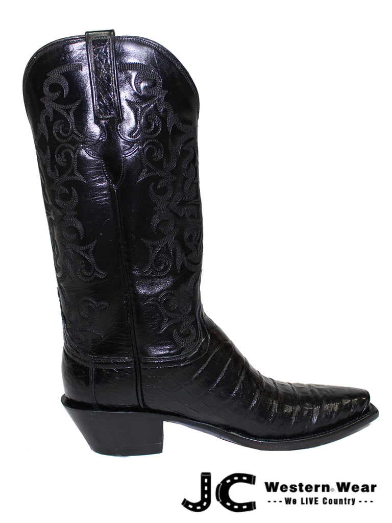 Lucchese Women's Classic Black Caiman Belly Skin Boots GB9573.54 Lucchese - J.C. Western® Wear