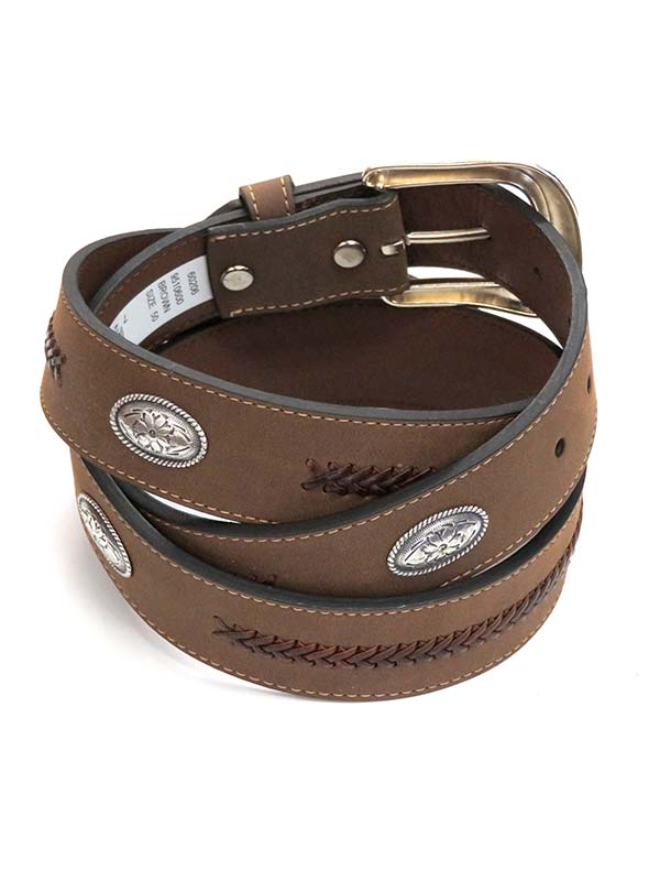 G Bar D Mens LARGE SIZE Concho Western Belt 9510600 Brown
