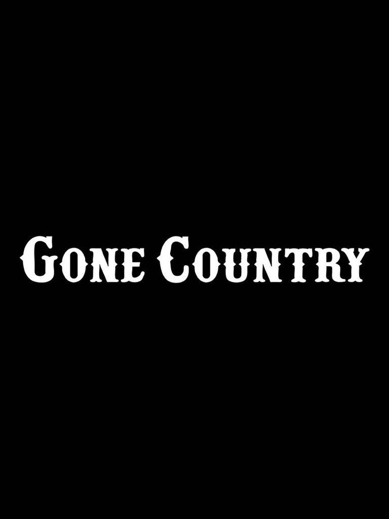 "Gone Country Bumper Decal Sticker - 12"" X 5"""