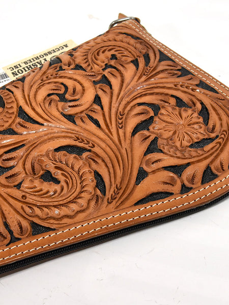 Medium Tooled Western Leather Ranger Pistol Case GC06NBK