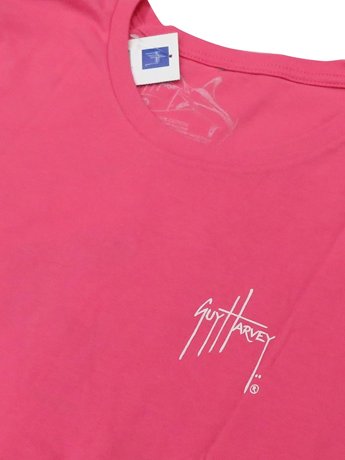 Guy Harvey Womens Vine Short Sleeve T-Shirt LTH41462 Pink Back