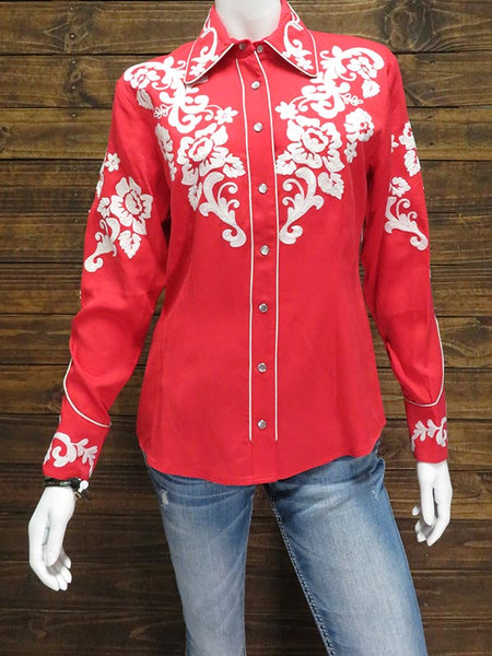 258a20d6721 H-Bar-C Ranchwear The Fort Worth Embroidery Shirt LSW024FWRED