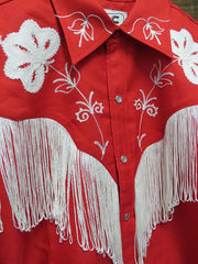 H-Bar-C Ranchwear Mens THE TAOS Tencel Embroidery Shirt MSW009RED Red