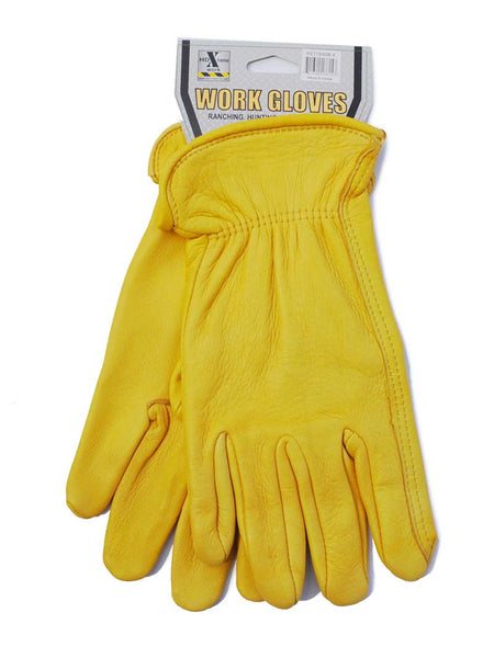 Mens HD Xtreme Work Tan Deer Skin Leather Gloves H2110408
