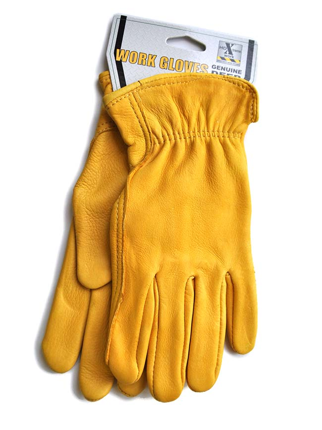HD Xtreme Work Tan Deer Skin Leather Gloves H2112408 - Women's