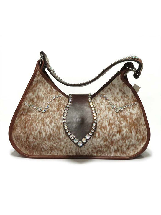 Double J Women's Roan Crystal Cowhide Purse DJ17C Front