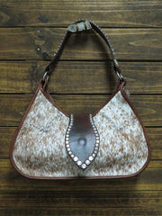 Double J Women's Roan Crystal Cowhide Purse DJ17C Hanging