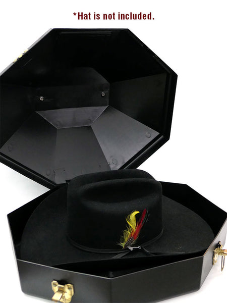 M&F 01500 Cowboy Hat Can Carrier Case Black Inside wirh a Hat Sample