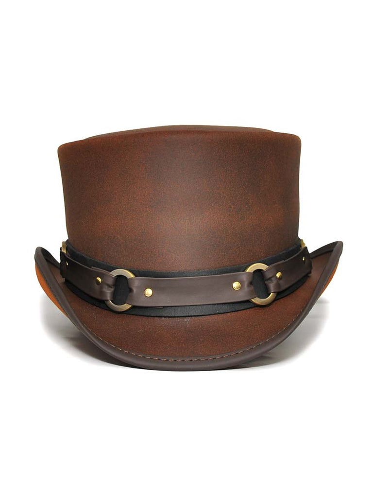 Head'n Home El Dorado SR2 Band Brown Leather Hat SR2-BRN