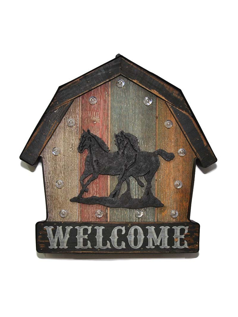 Western Moments Lighted Welcome Wall Sign 94001