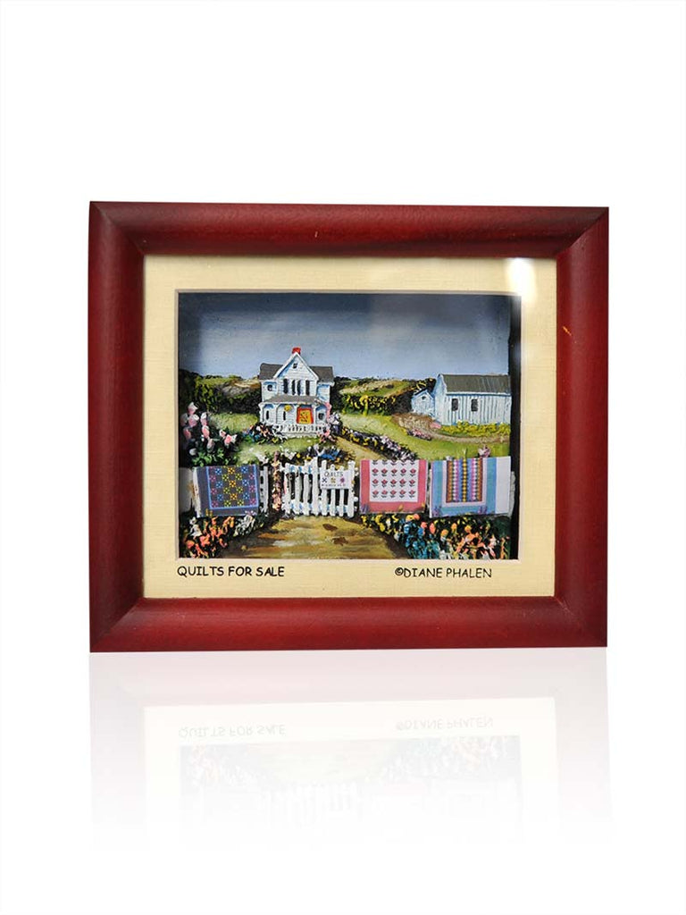 "Diane Phalen ""Quilts For Sale"" Decor Small Frame"
