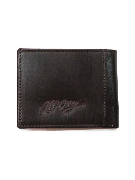 HOOey Men's Brown Tooling Pattern Red Cutout Bifold Wallet 1564161W1