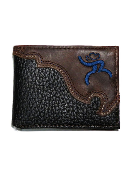 HOOey Mens Brown Roughy Signature Front Bi-Fold Wallet 1566161W6