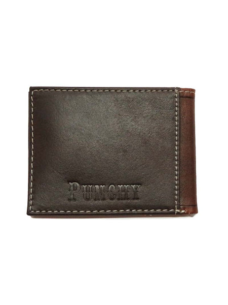 HOOey Mens Tooled Mahogany Burned Punchy Logo Wallet 1627161W1