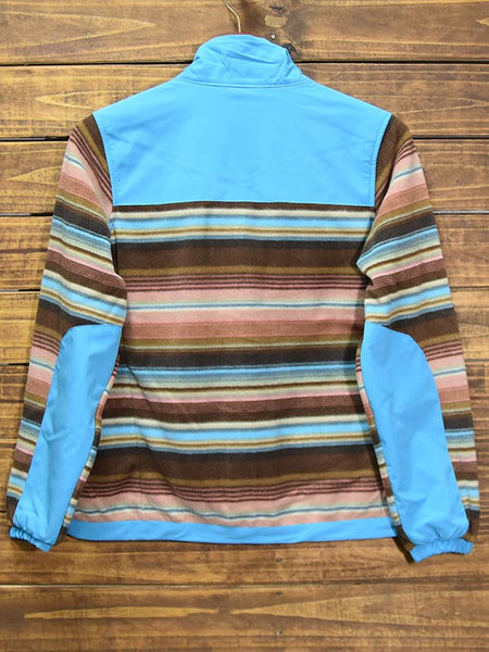 Hooey Womens Serape Fleece Turquoise Tech Jacket HJ052TQ back