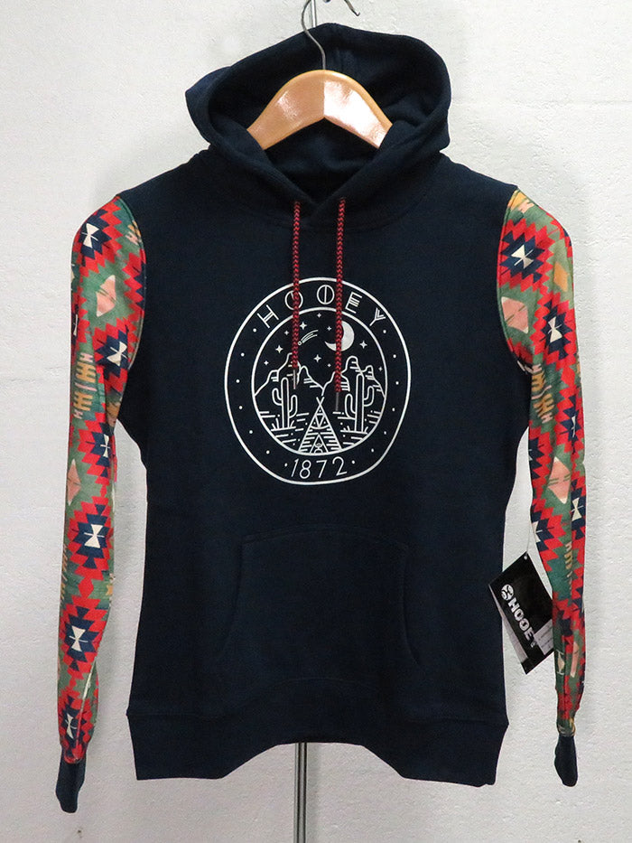 Hooey Mens Poderosa Navy Pullover Hoodie HH051NV front