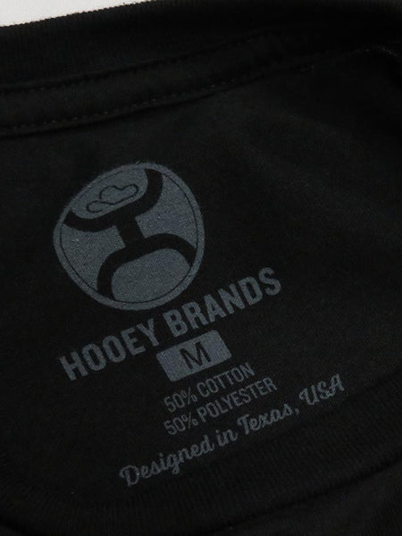 Hooey Mens First Black Head Dress Logo Crew Neck T-Shirt HT1175BK Tag