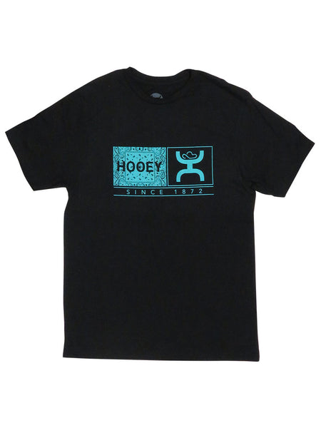 Hooey Mens Roots Black Crew Neck T-Shirt HT1364BK at JC Western Wear, Florida