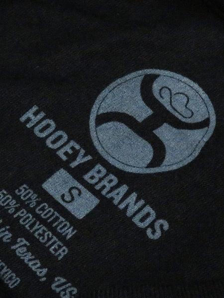 Hooey Mens Roots Black Crew Neck T-Shirt HT1364BK Tag