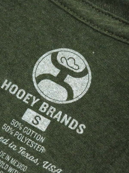 Hooey Mens Roughy 2.0 Olive Heather Crew Neck T-Shirt RT1251OL Brand