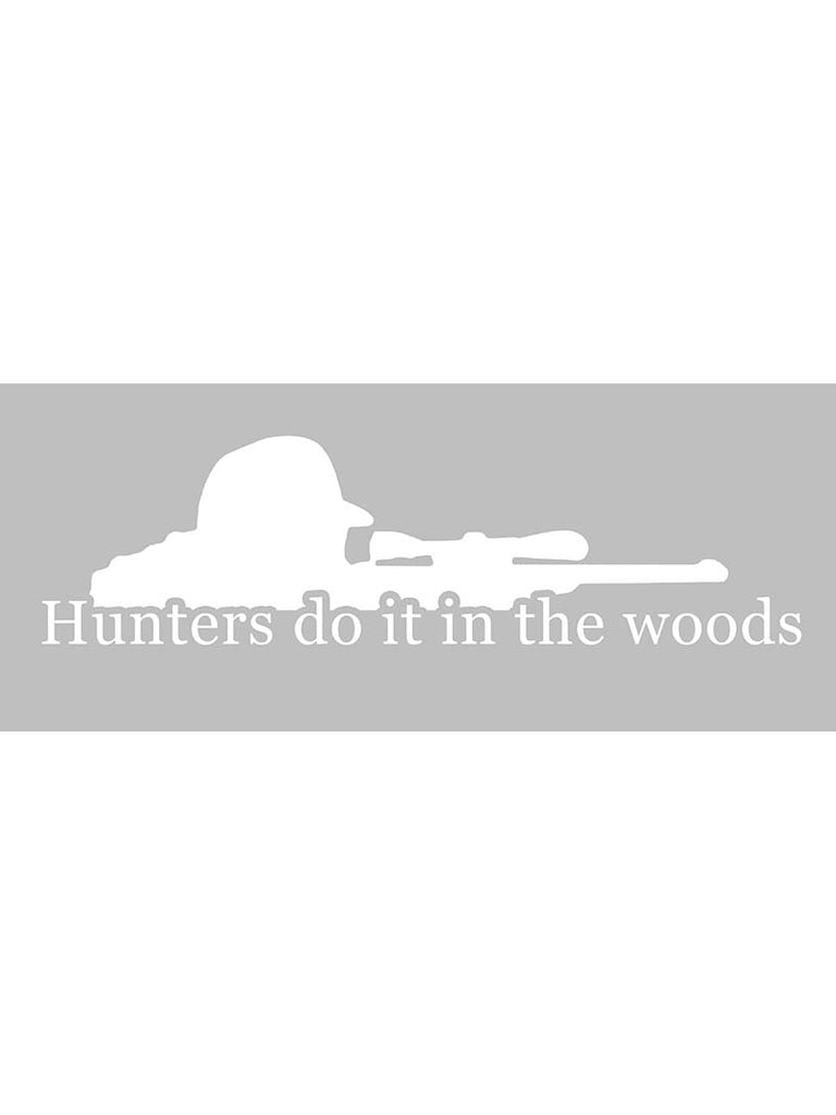 "Hunters Bumper Decal Sticker - 12"" X 5"""