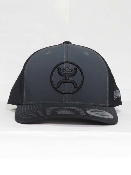 Hooey O Fade Grey and Black Cap With Hooey Logo 1633T-GYBK