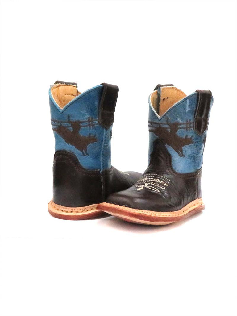 Roper Infants Blue and Brown Square toe Boot 7912-1369 front