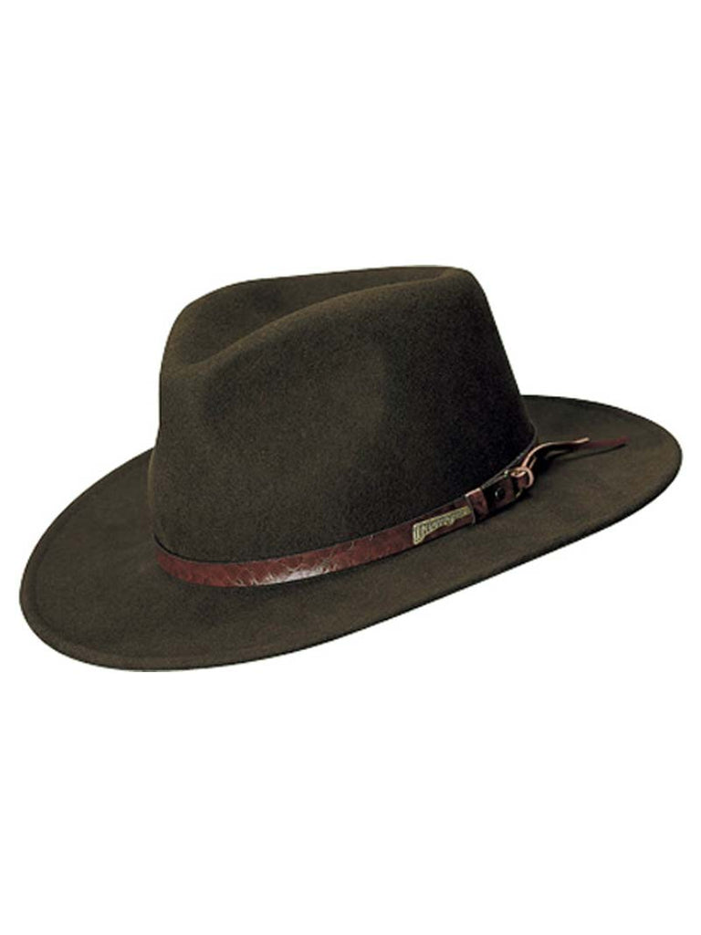 07136c3a38d Indiana Jones Wool Felt Outback with Tails 555-BRN Dorfman Pacific - J.C.  Western®