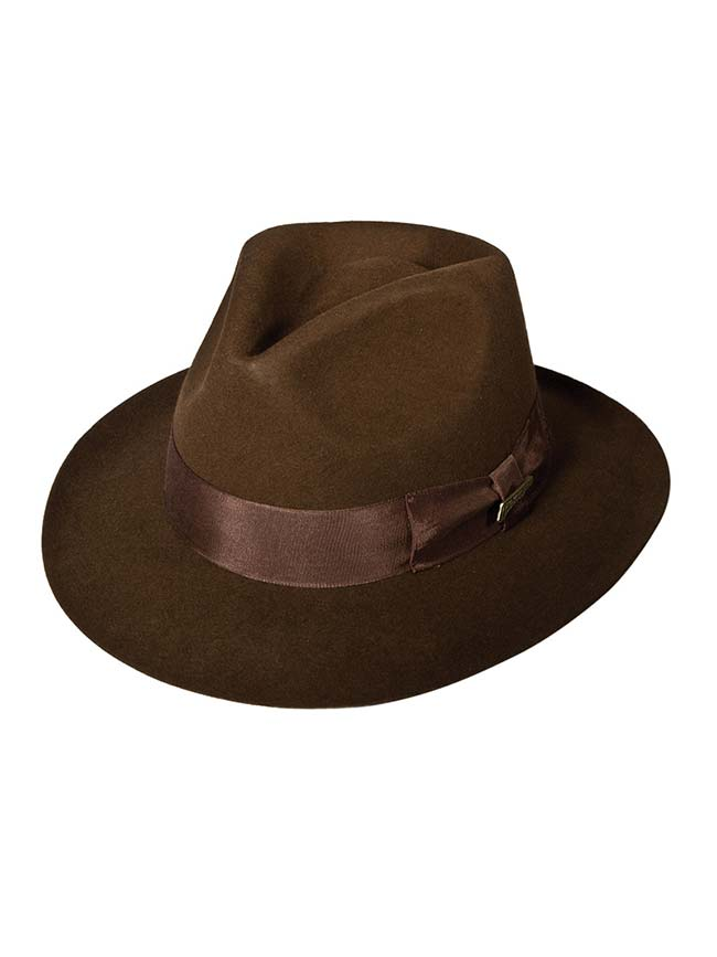 Indiana Jones Wool Felt Pinch Front Fedora IJ551 Dorfman Pacific - J.C. Western® Wear