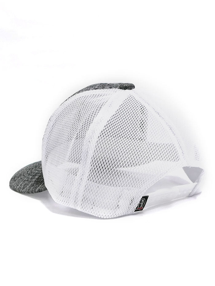 Justin JCBC013-GRY Classic Logo Mesh Back Cap Grey Heather SIDE FRONT 2 TONE