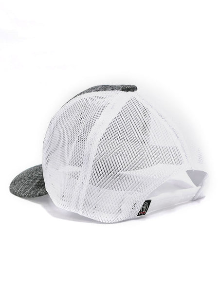 Justin JCBC013-GRY Classic Logo Mesh Back Cap Grey Heather SNAP BACK