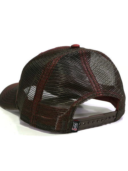 Justin JCBC501-RED Embroidered Logo Mesh Back Cap BACK