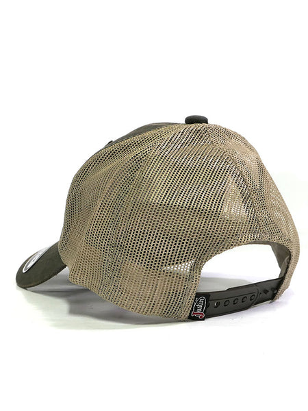 Justin JCBC515-BRN American Flag Mesh Back Cap Brown back