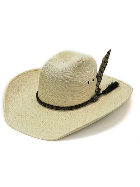 Justin JS1930BU Kids Buckhorn Western Straw Hat Natural Bent Rail Hat