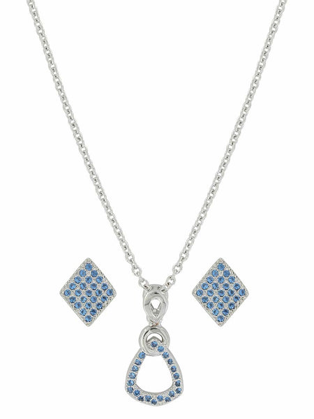 Montana Silversmiths Bellwether Light Blue Stones Jewelry Set JS3632 - D