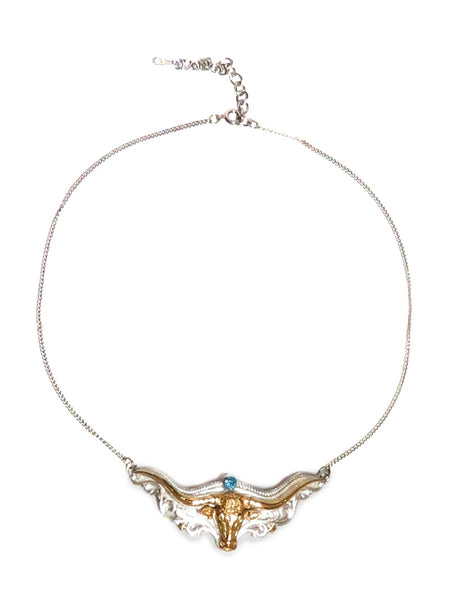 Women's Longhorn Head Western Necklace JCN201