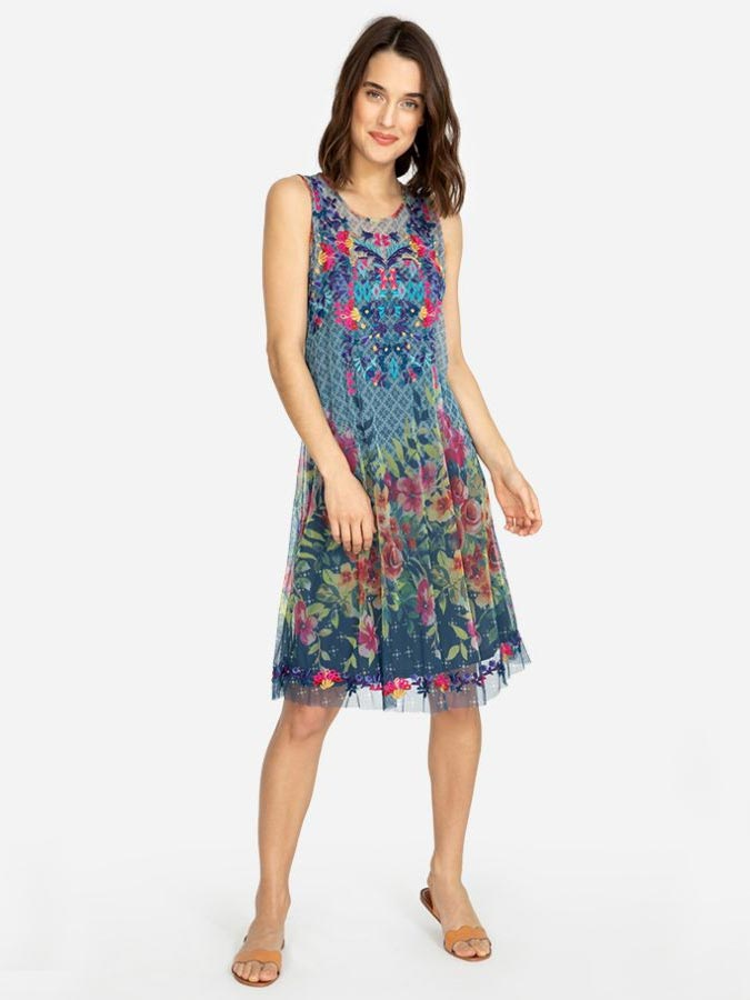 Johnny Was Womens RHANDI Embroidery Multi Color Dress B36719-4 Front