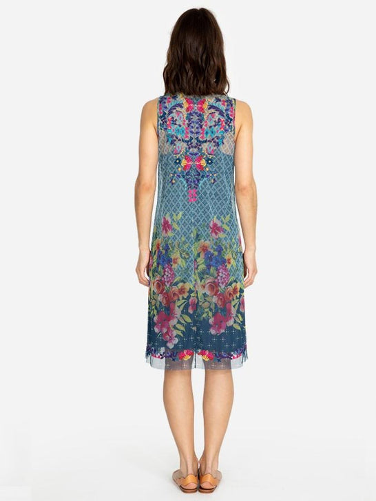 Johnny Was Womens RHANDI Embroidery Multi Color Dress B36719-4 Back View