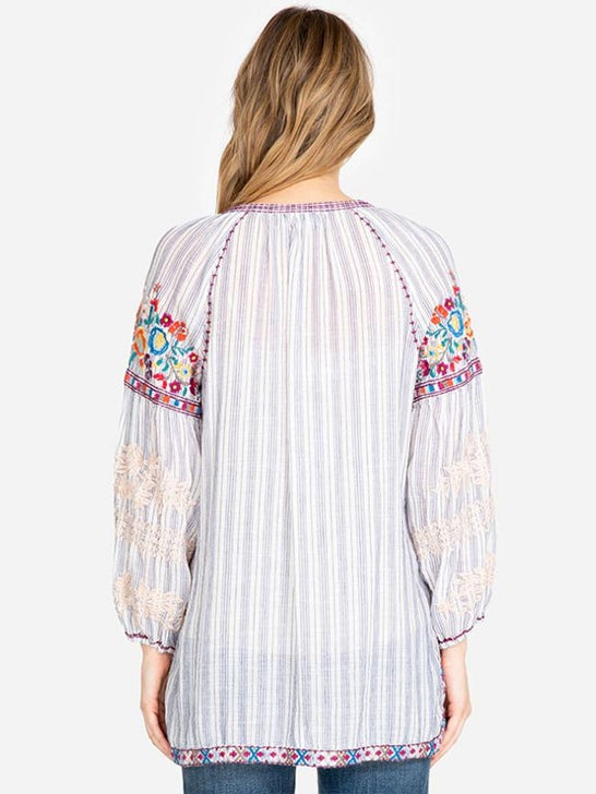 Johnny Was Womens Allegra Peasant Blouse W13519-3 Back